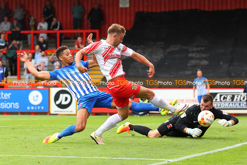 Matthew Godden of Stevenage goes close to a goal during Stevenage vs Hartlepool United, Sky Bet EFL League 2 Football at the Lamex Stadium on 3rd September 2016