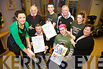 Students and local business people from Castlegregory are ready to shave, dye and wax this Friday night in Maurice Fitz's pub in the village to raise funds for the Irish Cancer Society. Pictured were: Linda Murphy (Pamper and Pout), Delboy, Daragh Rohan, Mike Deane, Aimee Byrne and Cathriona Rohan (Cathriona's Hair Salon) with Finbarr Dowling (The Village Pharmacy) and Jack Fitzgerald.