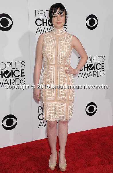 Pictured: Ashley Rickards<br /> Mandatory Credit &copy; Gilbert Flores /Broadimage<br /> 2014 People's Choice Awards <br /> <br /> 1/8/14, Los Angeles, California, United States of America<br /> Reference: 010814_GFLA_BDG_274<br /> <br /> Broadimage Newswire<br /> Los Angeles 1+  (310) 301-1027<br /> New York      1+  (646) 827-9134<br /> sales@broadimage.com<br /> http://www.broadimage.com