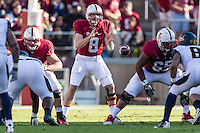 STANFORD, CA - NOVEMBER 23, 2013: Kevin Hogan during Stanford's game against Cal. The Cardinal defeated the Bears 63-13.