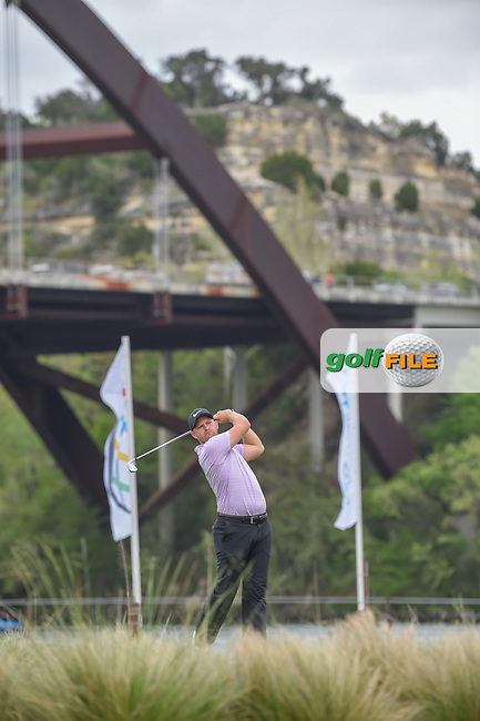 Tom Lewis (ENG) watches his tee shot on 13 during day 3 of the WGC Dell Match Play, at the Austin Country Club, Austin, Texas, USA. 3/29/2019.<br /> Picture: Golffile | Ken Murray<br /> <br /> <br /> All photo usage must carry mandatory copyright credit (© Golffile | Ken Murray)