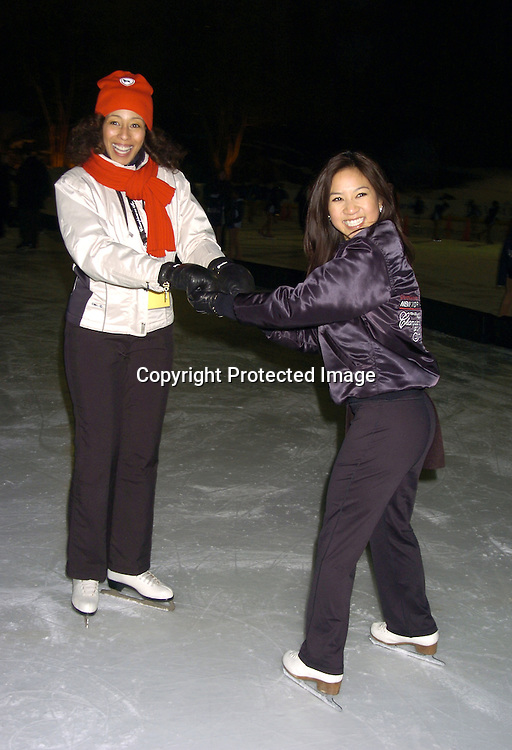 Tamara Tunie and Michelle Kwan..at The Figure Skating in Harlem Benefit on February 7,2005 at The Wollman Rink. ..Photo by Robin Platzer, Twin Images