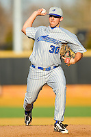 UNC-Asheville Bulldogs starting pitcher Billy Creighton #30 in action against the Wake Forest Demon Deacons at Wake Forest Baseball Park on February 28, 2012 in Winston-Salem, North Carolina.  The Demon Deacons defeated the Bulldogs 9-8.  (Brian Westerholt/Four Seam Images)