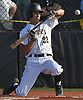 Jack Calla #32, St. Anthony's right fielder, ducks away from an inside pitch during the bottom of the fifth inning of a Nassau-Suffolk CHSAA varsity baseball game against Holy Trinity at St. Anthony's High School on Friday, April 28, 2017. He drew a walk and scored later in the frame. St. Anthony's won by a score of 4-1.