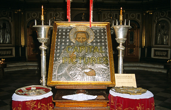 Interior exhibits, Saint Nicholas Church, Kotor, Montenegro, Former Yugoslavia