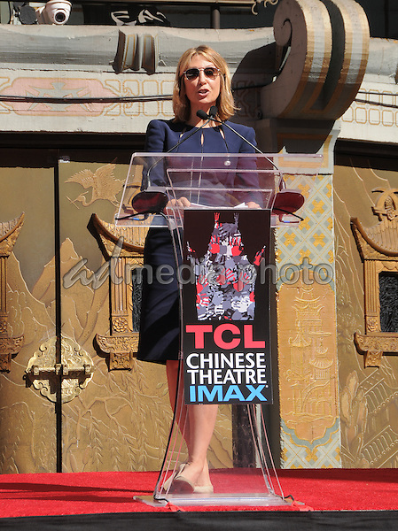 29 September 2016 - Hollywood, California. Stacey Snider. Jeffrey Katzenberg Hand And Footprint Ceremony held at The TCL Chinese Theater. Photo Credit: Birdie Thompson/AdMedia