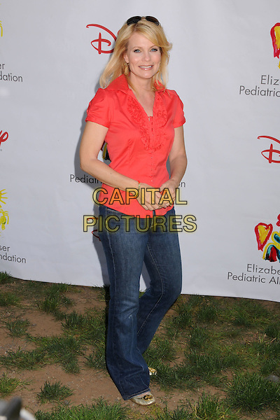 "JANN CARL.""A Time For Heroes"" Celebrity Carnival Benefit for the Elizabeth Glaser Pediatric AIDS Foundation at the Wadsworth Fairgrounds, Los Angeles, California, USA..June 8th, 2008.full length top jeans denim pink.CAP/ADM/BP.©Byron Purvis/AdMedia/Capital Pictures."