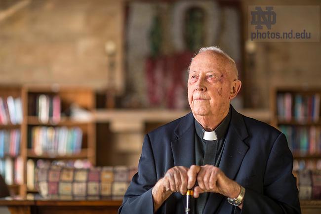 February 22, 2017; Rev. Robert Pelton, C.S.C. portrait for ND Magazine. (Photo by Barbara Johnston/University of Notre Dame)