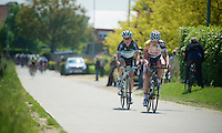 Heistse Pijl 2013<br /> <br /> Gert Dockx (BEL) and a Leopard rider trying to form an early break