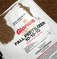 FERTILIZER BAG<br /> Closup Of Label<br /> Contents of label reads 10% Nitrogen, 18% Phosphoric acid, 10% Potash &amp; 5% Sulfurs.