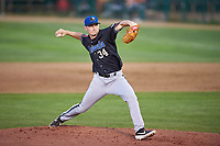 Missoula Osprey starting pitcher Josh McMinn (34) during a Pioneer League game against the Great Falls Voyagers at Centene Stadium at Legion Park on August 19, 2019 in Great Falls, Montana. Missoula defeated Great Falls 1-0 in the second game of a doubleheader. (Zachary Lucy/Four Seam Images)