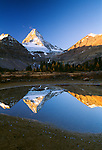 Mount Assiniboine reflection, Assiniboine Provincial Park, British Columbia, Canada