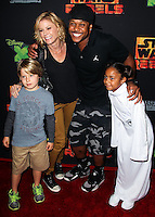 "CENTURY CITY, CA, USA - SEPTEMBER 27: Oliver McLanahan Phillips, Julie Bowen, Pooch Hall arrive at the Los Angeles Screening Of Disney XD's ""Star Wars Rebels: Spark Of Rebellion"" held at the AMC Century City 15 Theatre on September 27, 2014 in Century City, California, United States. (Photo by Celebrity Monitor)"
