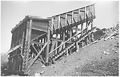 RGS's Burnett and Clifton 2-pocket Coal Chute at Ute Junction.<br /> RGS  Ute Junction, CO  Taken by Welch, Ronald - 1957