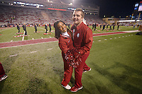 NWA Democrat-Gazette/BEN GOFF @NWABENGOFF<br /> Arkansas vs LSU football on Saturday Nov. 12, 2016 at Razorback Stadium in Fayetteville.