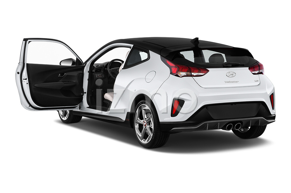Car images close up view of a 2019 Hyundai Veloster Turbo Ultimate 5 Door Hatchback doors