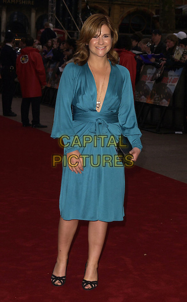 "HARRIET SCOTT.""Mission Impossible 3"" UK Film Premiere - Arrivals, Odeon Leicester Square, London, UK..April 25th 2006 .Ref: CAN.full length blue dress plunging neckline.www.capitalpictures.com.sales@capitalpictures.com.©Capital Pictures"
