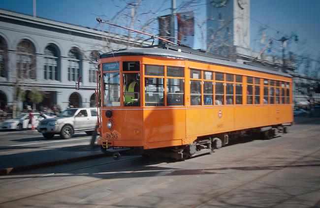 Streetcar along embarcadero