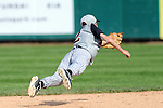 Trenton Wesclin second baseman makes a diving stop of this hard hit ball in the 2A state finals in 2012.