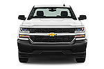 Car photography straight front view of a 2016 Chevrolet Silverado 1500 1WT Regular Cab Long Box 3 Door Pick-up Front View