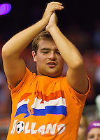 September 12, 2014, Netherlands, Amsterdam, Ziggo Dome, Davis Cup Netherlands-Croatia, Holland supporter<br /> Photo: Tennisimages/Henk Koster