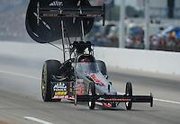 May 1, 2011; Baytown, TX, USA: NHRA top fuel driver David Grubnic during the Spring Nationals at Royal Purple Raceway. Mandatory Credit: Mark J. Rebilas-