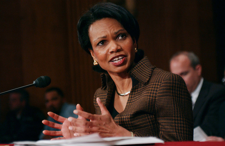 01/16/05.STATE DEPARTMENT/FOREIGN RELATIONS--Secretary of State Condoleezza Rice testifies before Senate Foreign Relations..CONGRESSIONAL QUARTERLY PHOTO BY SCOTT J. FERRELL