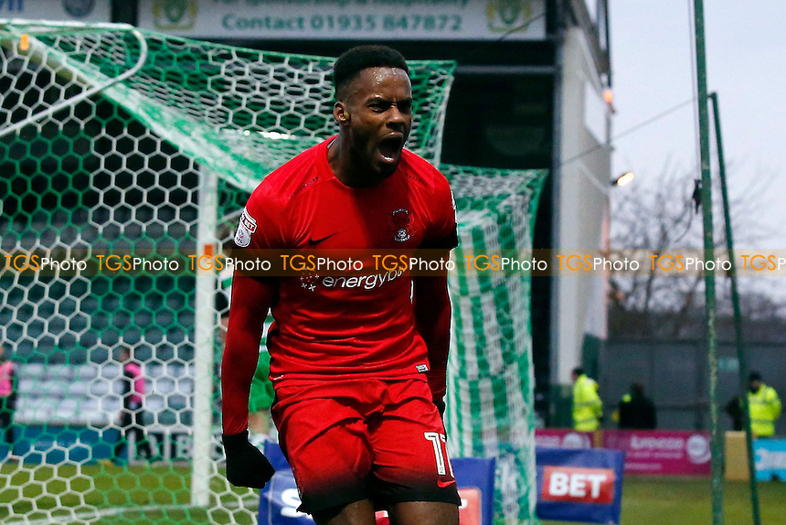 O's Gavin Massey celebrates after equalising for the O's to make it 1.1mduring Yeovil Town vs Leyton Orient, Sky Bet EFL League 2 Football at Huish Park on 11th February 2017