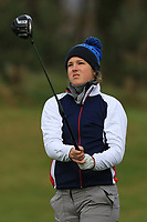 Luisa Lilian Vogt (GER) on the 1st tee during Round 1 of the Irish Girls U18 Open Stroke Play Championship at Roganstown Golf &amp; Country Club, Dublin, Ireland. 05/04/19 <br /> Picture:  Thos Caffrey / www.golffile.ie