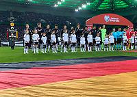 Deutsche Nationalmannschaft beim Einlauf - 16.11.2019: Deutschland vs. Weißrussland, Borussia Park Mönchengladbach, EM-Qualifikation DISCLAIMER: DFB regulations prohibit any use of photographs as image sequences and/or quasi-video.