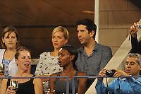 David Schwimmer con la fidanzata<br /> New York Flushing Meadows 03-09-2013 Tennis Torneo US Open Grande Slam.<br /> Photo Antoine Couvercelle / Panoramic / Insidefoto<br /> ITALY ONLY