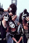 Kiss 1976  Peter Criss, Paul Stanley, Ace Frehley and Gene Simmons in London