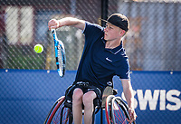 Amstelveen, Netherlands, 19 Augustus, 2020, National Tennis Center, NTC, NKR, National Junior Wheelchair Tennis Championships, Robin Groenewoud (NED)<br /> Photo: Henk Koster/tennisimages.com