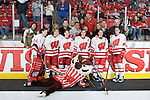 MADISON, WI - FEBRUARY 11: The seniors of the Wisconsin Badgers women's hockey team pose for a photo with their parents prior to the game against the Ohio State Buckeyes at the Kohl Center on February 11, 2007 in Madison, Wisconsin. The Badgers beat the Buckeyes 3-2. (Photo by David Stluka)
