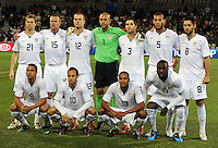 USA Starting Eleven. USA defeated Spain 2-0 during the semi-finals of the FIFA Confederations Cup at Free State Stadium in Manguang/Bloemfontein, South Africa on June 24, 2009..