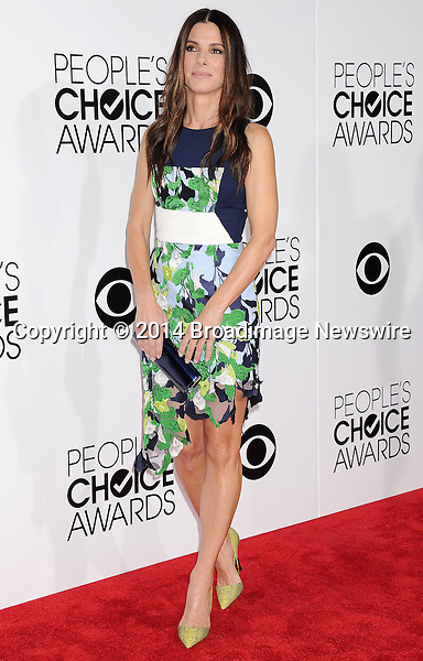 Pictured: Sandra Bullock<br /> Mandatory Credit &copy; Gilbert Flores /Broadimage<br /> 2014 People's Choice Awards <br /> <br /> 1/8/14, Los Angeles, California, United States of America<br /> Reference: 010814_GFLA_BDG_168<br /> <br /> Broadimage Newswire<br /> Los Angeles 1+  (310) 301-1027<br /> New York      1+  (646) 827-9134<br /> sales@broadimage.com<br /> http://www.broadimage.com