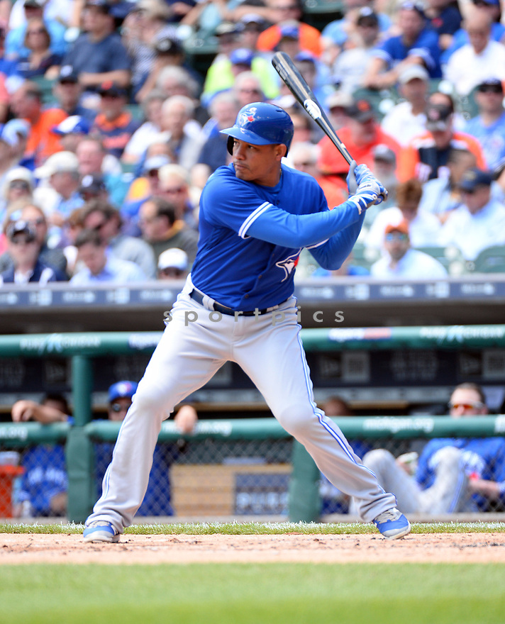 Toronto Blue Jays Ezequiel Carrera (3) during a game against the Detroit Tigers on June 8, 2016 at Comerica Park in Detroit MI. The Blue Jays beat the Tigers 7-2.