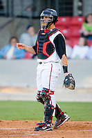 Catcher Chris Kroski #26 of the Carolina Mudcats on defense versus the Jacksonville Suns at Five County Stadium May 19, 2009 in Zebulon, North Carolina. (Photo by Brian Westerholt / Four Seam Images)