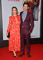 LOS ANGELES, CA. March 28, 2019: Adam Brody & Leighton Meester at the world premiere of Shazam! at the TCL Chinese Theatre.<br /> Picture: Paul Smith/Featureflash