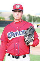 August 13, 2009: Caleb Graham of the Orem Owlz.The Owlz are the Pioneer League affiliate for the Los Angeles Angels. Photo by: Chris Proctor/Four Seam Images