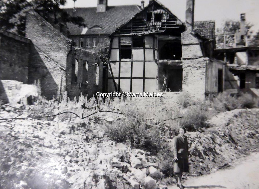 BNPS.co.uk (01202 558833)<br /> Pic: MartelMaides/BNPS<br /> <br /> More bomb damage this time the ancient town of Brunswick - An Anglo-American air raid on October 15, 1944 destroyed most of the city's churches, and the Altstadt (old town), the largest  ensemble of Medieval timbered houses in Germany.<br /> <br /> A fascinating archive of photos that offer an insight into what postwar Germany was like just after the end of WW2 has come to light.<br /> <br /> The incredible album of 262 black and white pictures show the stark aftermath of the war - buildings reduced to rubble in the capital Berlin, a flooded town and an abandoned factory where the Germans made their deadly V-2 rockets.<br /> <br /> They are believed to have been taken by a British soldier who was with Allied forces administrating the war ravaged country a year after the end of hostilities.<br /> <br /> The archive is being sold by Martel Maides on Guernsey on June 9.