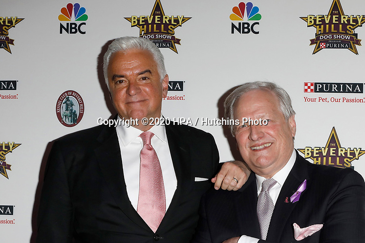 LOS ANGELES - FEB 29:  John O'Hurley, David Frei at the Beverly Hills Dog Show Presented by Purina at the LA County Fairplex on February 29, 2020 in Pomona, CA