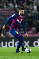 29th October 2019; Camp Nou, Barcelona, Catalonia, Spain; La Liga Football, Barcelona versus Real Valladolid; Gerard Piqué on the ball - Editorial Use