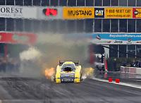 Apr 21, 2018; Baytown, TX, USA; NHRA funny car driver Matt Hagan during qualifying for the Springnationals at Royal Purple Raceway. Mandatory Credit: Mark J. Rebilas-USA TODAY Sports