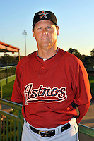Feb 25, 2010; Kissimmee, FL, USA; The Houston Astros coach Jamie Quirk (6) during photoday at Osceola County Stadium. Mandatory Credit: Tomasso De Rosa / Four Seam Images