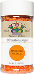 10259 Nature's Colors Marigold Orange Decorating Sugar, Small Jar 3.3 oz