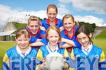 STAR QUALITY: Young football starswho took part in the Kerry Primary Schools Girls Skills Finals in Fitzgerald Stadium Killarney on Friday last..Front L/r. Sinead Moynihan, Jennifer Murphy ans Louise O'Donoghue (all Glenflesk NS)..Back L/r. Joanne O'Connell, Rose Kelliher and Aileen Sheehan (all Barraduff NS).    Copyright Kerry's Eye 2008