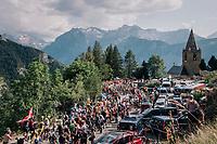 """coming through """"Dutch Corner"""" (#7) on Alpe d'Huez<br /> <br /> Stage 12: Bourg-Saint-Maurice / Les Arcs > Alpe d'Huez (175km)<br /> <br /> 105th Tour de France 2018<br /> ©kramon"""