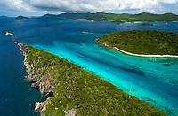 Aerial images of U.S. and British Virgin islands