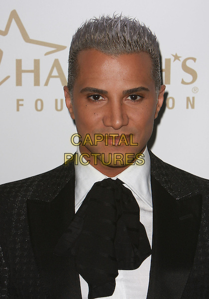 JAY MANUEL.19th Annual Glaad Media Awards held at the Kodak Theatre, Hollywood, California, USA..April 26th, 2008.headshot portrait silver white dyed hair black neckerchief scarf .CAP/ADM/CH.©Charles Harris/AdMedia/Capital Pictures